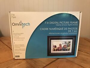 NIB Digital Changing Pictures Frame Omnitech Black 7 Inch  Screen New
