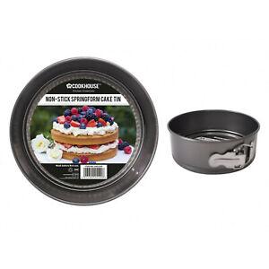 """2 Pack Round Cake Tins 7"""" 18cm Diameter Non Stick Springform Deep Baking Bake"""