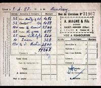"""SAINT-AMAND-MONTROND (18) BIERES / Brasseur """"A. MAGNE & Fils"""" en 1957"""