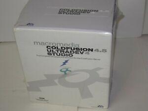 Adobe Macromedia  ColdFusion  Ultradev Studio CFML New In Box Sealed