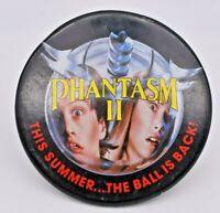 """Vintage 1988 PHANTASM 2 - 80s Horror Movie Promo Button Large, 4"""" Pin Pinback"""