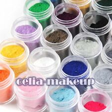 24 Colour Jumbo size Velvet Flocking Powder Velvet Nail Art Polish Tips