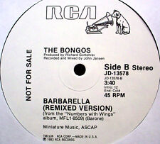 "BONGOS - Barbarella / Numbers With Wings - '83 45-rpm 12"" punk wave Club Single"