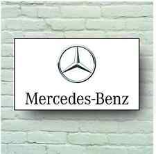 MERCEDES LOGO 2FT LARGE GARAGE SIGN WALL PLAQUE CLASSIC SPORT CAR BENZ AMG
