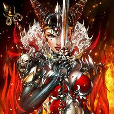 """GRIMMY FAIRY TALES Quest #3 Cover ART PRINT Dark Queen of Hearts 17 x 11"""" NEW"""