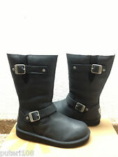 UGG KENSINGTON ORIGINAL BLACK LEATHER Boot US 8 / EU 39 / UK 6.5 - NEW