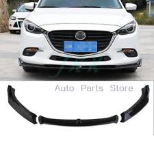 Trim For Mazda 3 AXELA 2017 ABS Black Front Lower Bumper Protector Frame Trim k