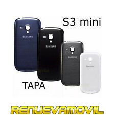 Tapa Trasera Original De Bateria Para Samsung Galaxy S3 Mini i8190 Azul Negro