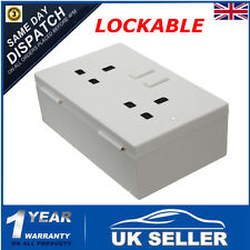Imitation Double Plug Socket Wall Safe Security Secret Hidden Stash Box Lockable