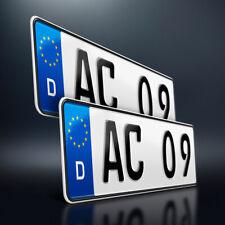2 Kfz Kennzeichen | 380 x 110 mm | Nummernschild | Autoschild | DHL-Versand