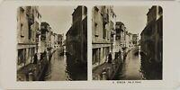 Italia Venezia, Rue San Felice, Foto Stereo Vintage Analogica