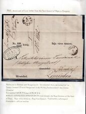 More details for hungary 1862 military content from baja official town business (read) ws14613(l)