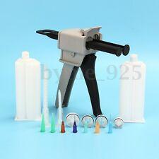 50ML Epoxy Resin Gun Dispenser Static Mixer Mixing Nozzle Tip Cartridges Kit Set