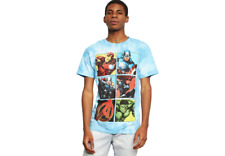 Marvel Blue Tie Dye Avengers Comic Graphic Tee Size large