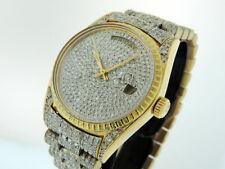 Rolex President Day Date 18038 All Diamonds Fancy Bracelet 18k Gold  $Vintage