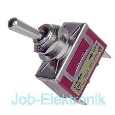 Kippschalter Schalter Hebelschalter KFZ Ein-Aus 1xEin  Metallhebel 230V 15A