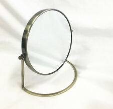 Bronze Coated Frame Magnify Cosmetic Mirror 2 Sided  1x Normal + 3x Magnifying