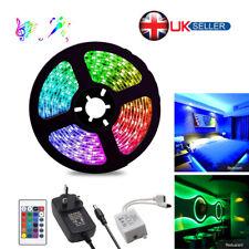 5M 12V 300LED 2835 LED RGB Strip Light +Remote Control +12V 3A Power Supply Kit