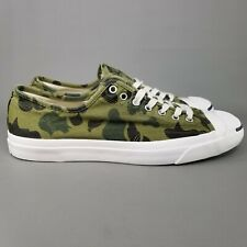 Converse Jack Purcell Ox Camo Skate Shoes Size 11 Athletic Green White