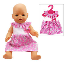 For 18'' American Girl Our Generation Doll Clothes Pink Dress Outfit Clothes Set
