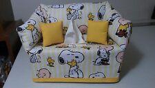 Snoopy/Charlie Brown/Peanuts -Sofa Tissue Box Cover Handmade