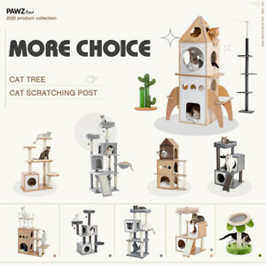 Cat Tree Scratching Post Scratchers Condo House Tower Cat Climbing Gym Furniture