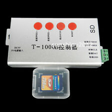 T-1000B SD Card LED Controller For Dream Color Led Strip WS2811 WS2801 DMX512 5V