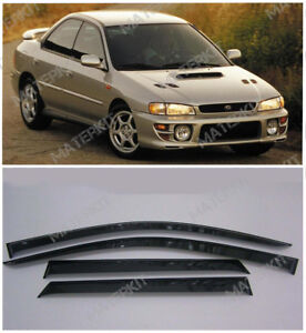 Deflectors For Subaru Impreza I Sd Windows Visors Rain Vent Guard Sun 1992-2000