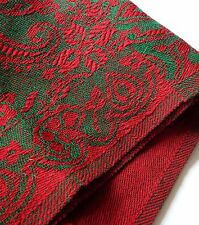 Vintage Pashmina Indian Kashmir Handmade Red & Green Winter Shawl