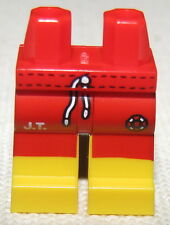 LEGO NEW MINIFIGURE BEACH LEGS SWIMSUIT BOARD SHORTS SWIM TRUNKS RED AND YELLOW