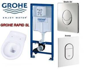 Grohe Vorwandelement Rapid SL Vereg Wand WC spülrandlos Tiefspüler Betätigung