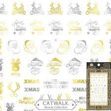 Metallic Christmas Santa Reindeer Snowflake Nail Art Sticker Decal USA FAST SHIP