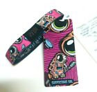 ZOX **SUSPICIOUS SAL Pink** Silver Single Small MONSTER Wristband w/Card & Pin