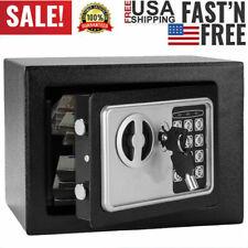 Electronic Digital Steel Safe Strongbox Small Size Jewelry Cash Money Case Black