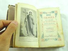 libro antico LIBRETTO PREGHIERE RELIGIOSO CHIESA  DEVOZIONE FILOTEA 1868