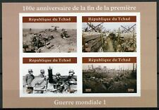 Chad 2019 MNH WWI WW1 End of World War I 4v IMPF M/S I Military Stamps