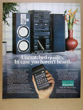 1985 Sansui IS-1100P Stereo Rack System photo vintage print Ad