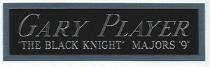 GARY PLAYER NAMEPLATE FOR AUTOGRAPHED Signed PGA GOLF CLUB-BAG-PHOTO-FLAG-PIN