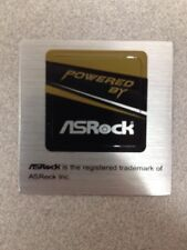 Powered By ASRock Logo Sticker PC Motherboard Case Badge