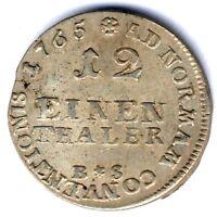 Lippe-Detmold Simon August (1734-1782) 1/12 Taler 1765 -Detmold, vz+