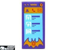 LEGO Smart Phone iPhone Batgirl Phone Purple  Minifigure Accessory 1x2 Tile NEW