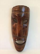 Maske Holzmaske Larve Dekoration Souvenir Jugoslawien Afrika 31,5 cm Handarbeit