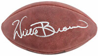 Raiders Willie Brown Authentic Signed Youth Official Wilson Nfl Football BAS