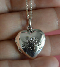 925 Sterling Silver Tree of Life Love Heart 3D Locket Pendant Necklace *NEW*