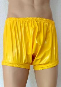 Windelhose PVC Windelslip Gelb Windel Slip Hose Adult Diaper Bloomers Spreizhose