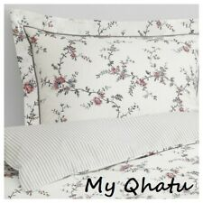 Ikea STENORT Twin Duvet Cover with Pillowcase Bed Set White Flower NEW