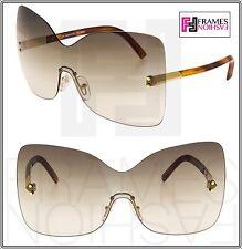 f72b5c93d7 Fendi 5273 Brown Oversized Mask Sunglasses 2012 Runway Fashion Show
