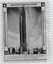 US Cinderella stamp: 1930s New York City Silver series- Empire State Bldg-dw737w