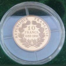 RARE 10 Francs OR de 1992 (( 1852-1992 )) NAPOLEON EMPEREUR de MONNAIE de PARIS
