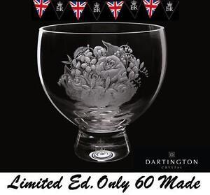 Dartington Diamond Jubilee Queens Rare Royal Posy Bowl Limited Edition 10of 60